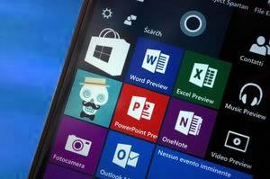 Windows 10 phone screen