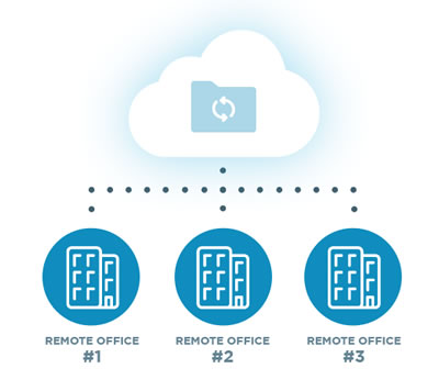 remote backup and access through the cloud